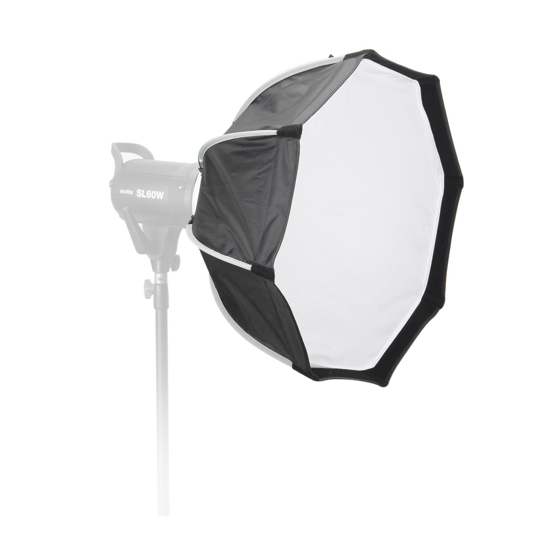 EACHSHOT 55mm octogone Softbox parapluie réflecteur Flash lumière Octodome avec monture Bowens pour Godox photographie Studio accessoires