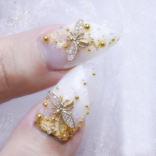 2018 Real 10pcs/lot Japan 3d Gold Bee Nail Art Decorations Diy Glitter Rhinestones Alloy Studs For Jewelry Accessoires