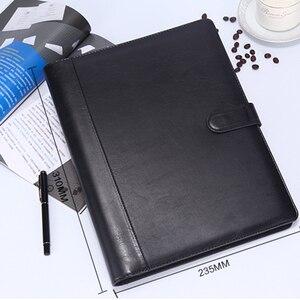 Image 2 - 8 מנות קובץ תיקיית A4 PU טבעת קלסר תצוגת ספר תיקיות עם מחשבון מסמך תיק ארגונית עסקי ציוד משרדי