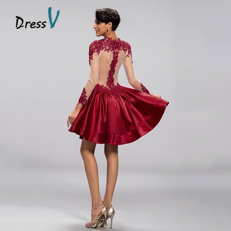 Aliexpress.com : Buy Best Selling Short Burgundy Cocktail Dress ...