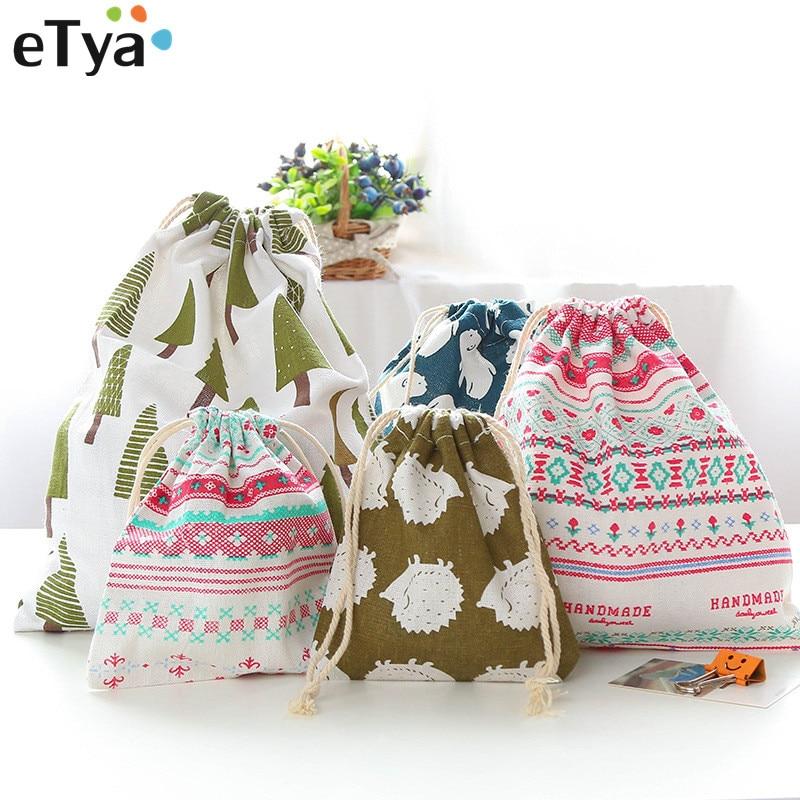 ETya  New Travel Multifunction Drawstring Bag Women Cosmetic Bags Organization Case Cloth Wash Shoes Pouch