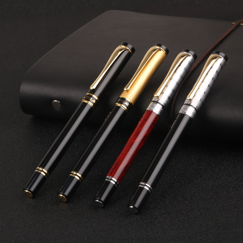 High Quality Rollerball Pen Gold clip Fine Point 0.5mm Black Ink Business Office Signature Pens School Office Supplies