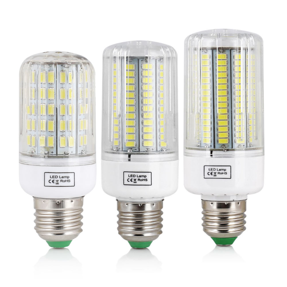 цена на LED Corn Bulb E27 SMD 5730 7W 12W 15W 20W 25W 30W 45W Home Decoration Lamp for Chandelier Spotlight 30 42 64 80 89 136 165LEDs