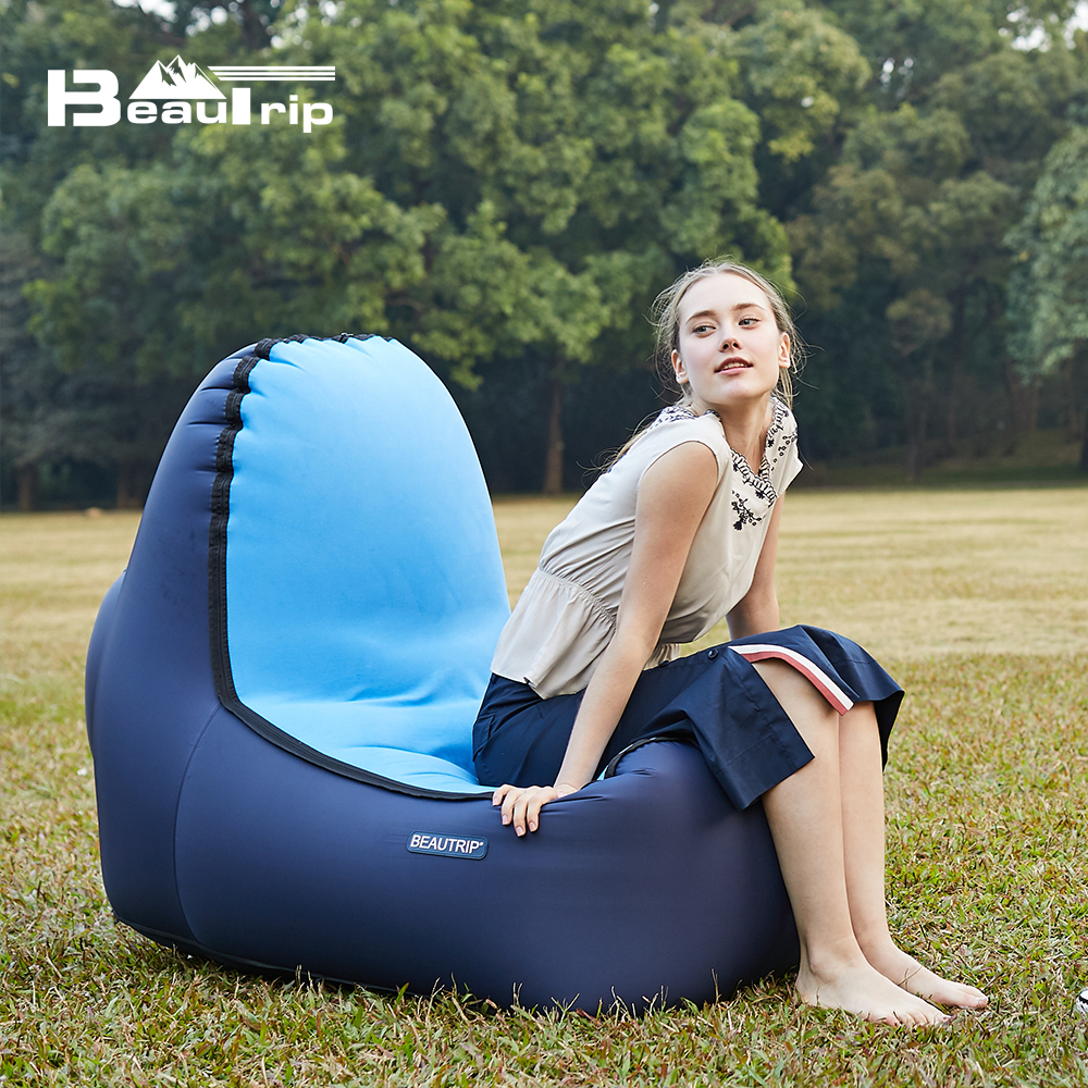 Inflatable Chair Lounger Camping Air Mattress Sleeping Pad