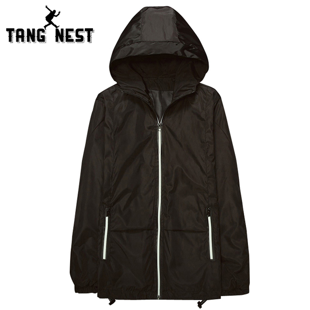 Men's 2017 Hooded Solid Color Thin Spring& Autumn Jacket Wind Proof Zipper Casual Hot Selling Asian Size M-3XL Jacket MWJ1831
