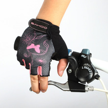 2017 Cycling Bike font b Gloves b font Shockproof Anti Half Finger font b Gloves b