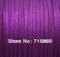 Бесплатная Доставка 3x1.5 мм 100 Ярдов (92 М) Металлик Фиолетовый Плоским Искусственные Замши Шнура DIY Кожа шнур
