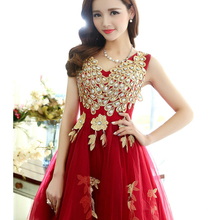 New arrival peacock design short lady girl women princess bridesmaid banquet party ball dress gown