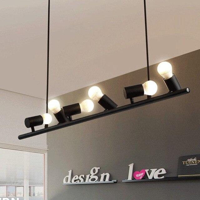 Nordic Modern Wrought Iron Pendant Lamp Black/White Six/Ten Birds Suspension Luminaire LED E27 for decor Hanging Light Fixtures