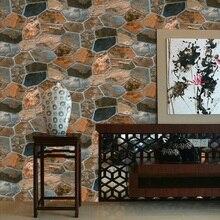 Retro vintage matte simulation brick wallpaper coffee shop bar restaurant clothing store culture Stone wall sticker