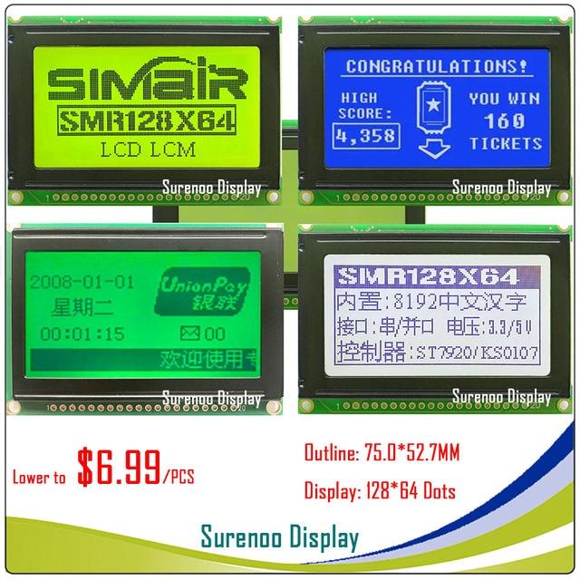 Quickly KS0108B Graphic LCD 12864 Arduino Arduino in 2019
