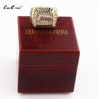 Manufacturer 2000 Los Angeles Lakers Basketball Championship Ring Replica And Upscale Ring Box Men Sports Fans
