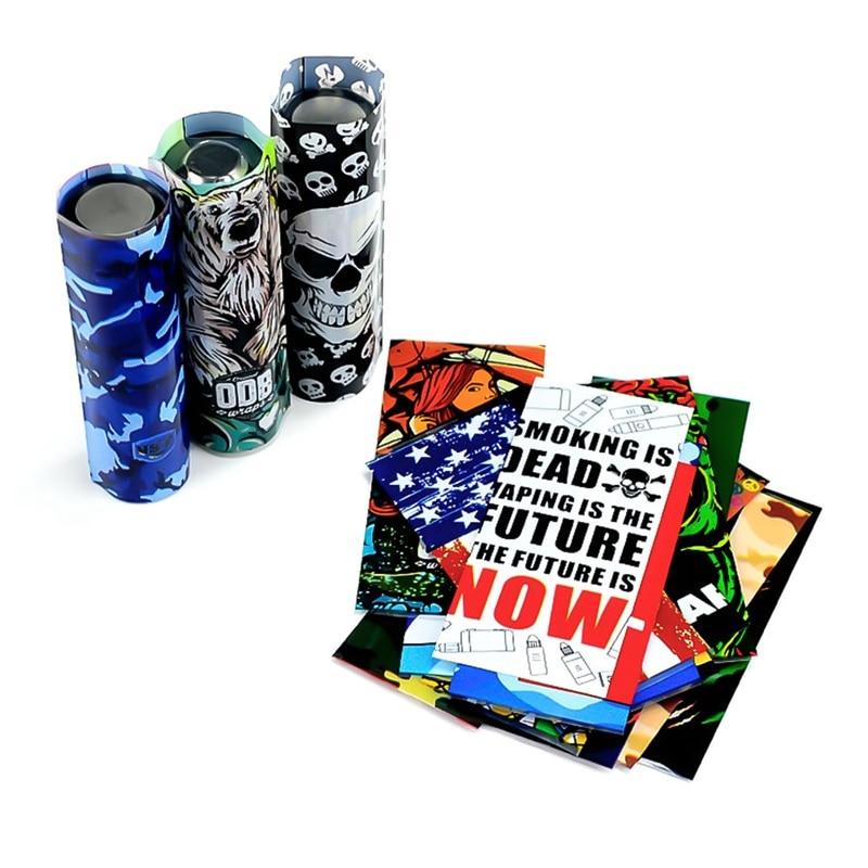 10pcs/lot Battery Case For 20700  Battery Wrap Battery Covering Skin Heat Shrink Tubing Sleeving Usa Flag Skull Design
