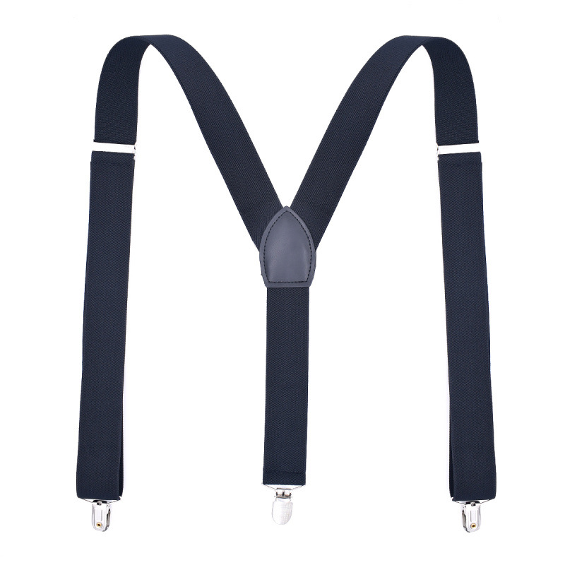 Suspenders For Men Leather Trimmed Button End Elastic Tuxedo Y Back Mens Fashion Suspenders Pant Braces Adjustable Lengthening