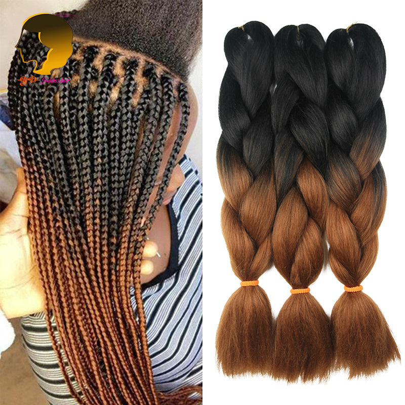 Buy Crochet Braids Synthetic Ombre Kanekalon Braiding Hair