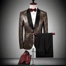 2018 nueva marca de lujo de los hombres Trajes para la boda Slim Blazers  negocios novio traje masculino del partido prom Tuxedo . af3953490937