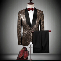 2018 neue Luxusmarke Männer Anzüge Für Hochzeit Nehmen Blazer geschäfts Bräutigam Anzug Männlichen Smoking Prom Party Männer Volles Kleid jacke + Pants