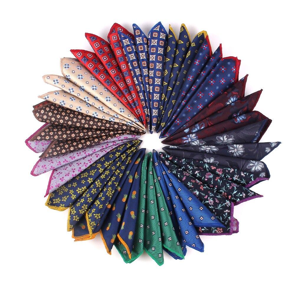 Paisley Pocket Square Floral Handkerchief For Suits 25cm*25cm Hankies For Men Women Brand Suits Pocket Towel Hanky
