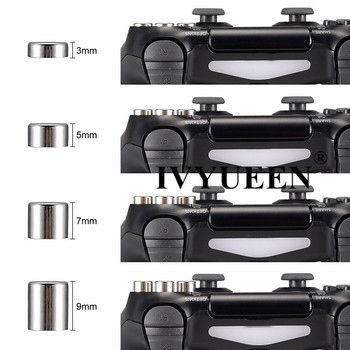 IVYUEEN Magnetic Analog Stick Dpad Action Buttons Mod Kit for Sony  Dualshock 4 PS4 Pro Slim Controller Swap Thumb Grips Caps