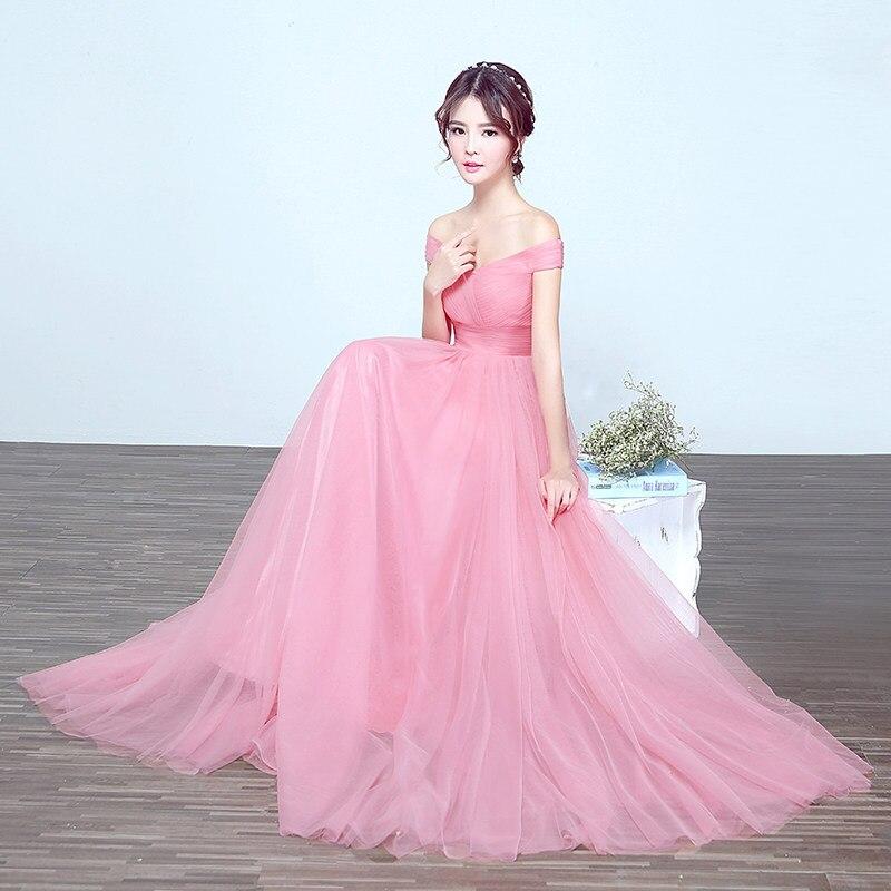 Envío libre embarazo Rosa vino rojo piso longitud vestidos de baile ...