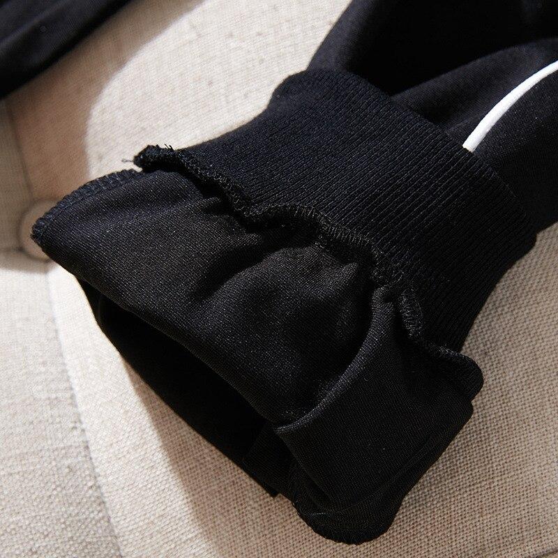 2019 Nouvelle Polaire 2018 Automne Couleur Femelle Appliques Pantalons 991106 Décontractés Noir Plein Amende Coton Lourd Costumes Correspondant Dames r4zzqXnIHx