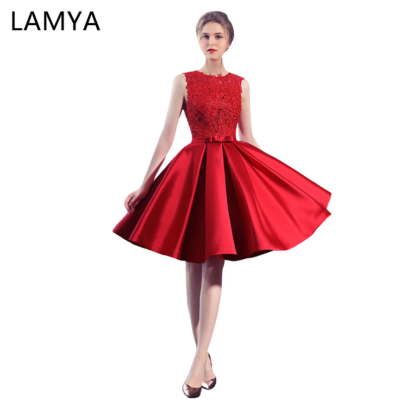 LAMYA Customized Backless   Prom     Dress   2018 Vintage Sexy Lace Evening Party   Dresses   Ladies Cheap Tank Vestidos De Festa