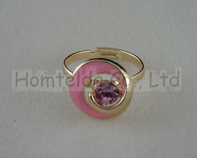 Free shipping sweet and fashional blue plastic flower-shape  zircon inlaid gold-plating toe ring by hand set ht-sp0030