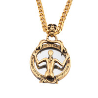 Retro Snake Witch Mirror Pendant Necklace Casting 316l Stainless Steel For Women Top Quality Vintage Hip