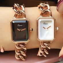 EIMA Top De Luxe Femmes En Acier Inoxydable Bracelet À Quartz Montres De Mode Populaire Lady Robe Montres Feminino Relojes