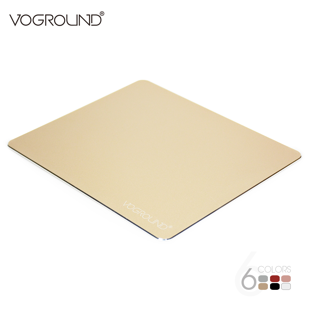 VOGROUND Aluminum Alloy Pad with Non-Slip Mouse Pad Anti Slip Mat Mouse Creative Metal Gaming Mousepad For LOL creative lute style silicone anti slip pad yellow