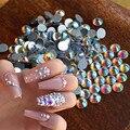 1440 Unids/set AB Nail Rhinestones la Parte Posterior Plana de Cristal de Uñas Glitter Hotfix Piedras DIY 3D Encantos de Uñas Decoración de Uñas herramientas