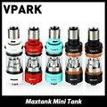 Vpark Maxtank Mini Tanque Atomizador 1.5 ml ecigarette Con Bobina de relleno Superior Ajustable de flujo de entrada de Aire de Rosca Vpark Maxtank Mini Vape
