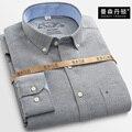 2016 новое прибытие рубашка мужчины с длинными рукавами Оксфорд шелковая ткань хлопок мужская мода повседневная Плюс размер 2XL 3XL 4XL 5XL 6XL 7XL 8XL