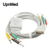 Монитор пациента GE-Marquette совместимый 12 свинцовый EKG кабель с leadwires, Банан 4,0 мм