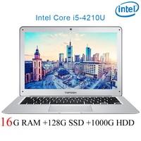 P7 08 16G ram 128G SSD 1000G HDD i5 4210U 14 Untral тонкий ноутбук игровой ноутбук Настольный компьютер