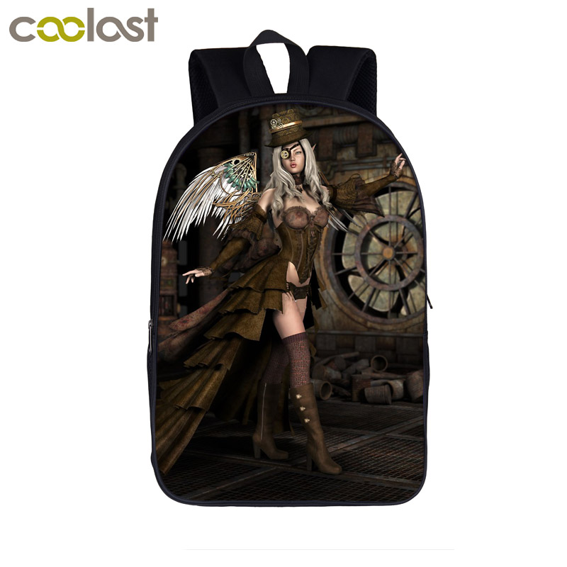 Animal Backpack For Teenager Boys Girls School Bags Laptop Backpack Women Men Travel Bag Bookbag To Win A High Admiration Steampunk Mechanical Angel Luggage & Bags Backpacks