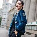 Бейсбол равномерное женский осень 2016 новый длинными рукавами свободные бархат куртка тонкий все матч Корейский прилив