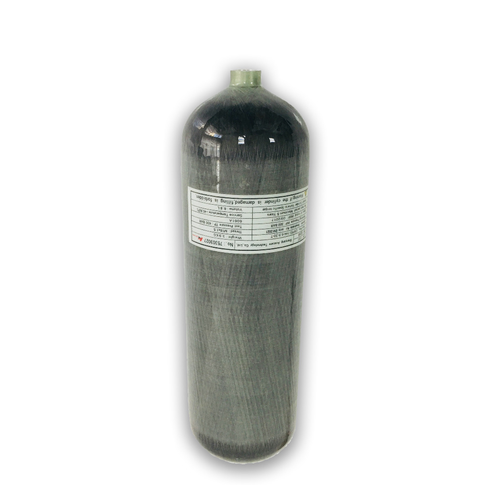 AC168 30MPa 4500Psi 6.8L Carbon Fiber Cylinder High Pressure Diving Cylinder Breathing Apparatus Cylinder Filling Drop Shipping