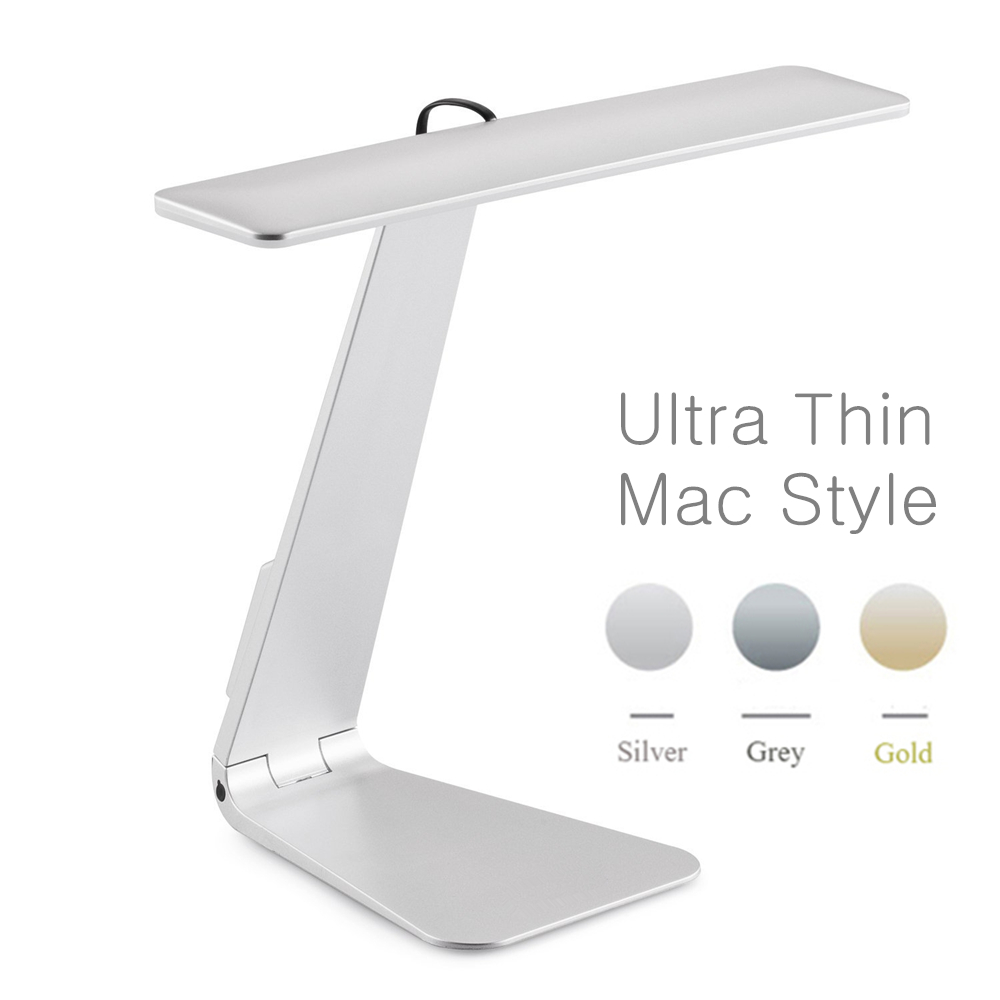 Ultrathin Mac Style 3 Mode Dimming LED Reading Study Desk Lamp Soft Eye-Protection Night Light Folding Rechargeable Table Lamp handbag style flexible neck rechargeable 2 mode 9 led white light desk lamp