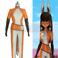 Custom Made Miraculous Ladybug Cosplay Costume Volpina Cosplay Costume Fox Volpina Suit Spandex Suit Free Shipping