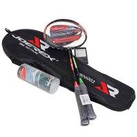 2pcs Joerex Cheapest Badminton Racquet Steel Alloy T Joint Badminton Racket With Shuttlecock For Amateur