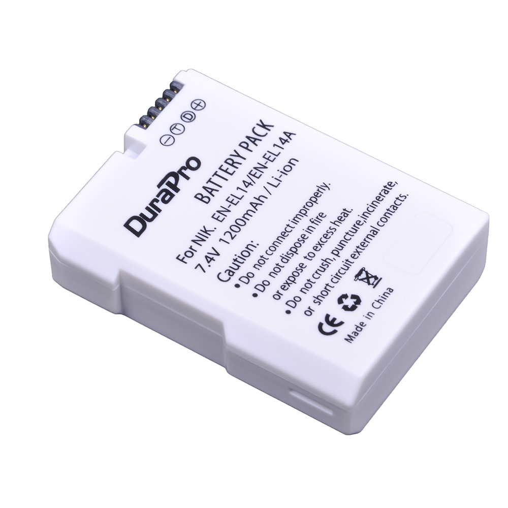 1pc 1200mAh EN-EL14 EN-EL14A EN EL14 Battery for Nikon D90 D300 D5300 D5200 D5100 D3300 D3200 D3100 for COOLPIX P7100 P7200