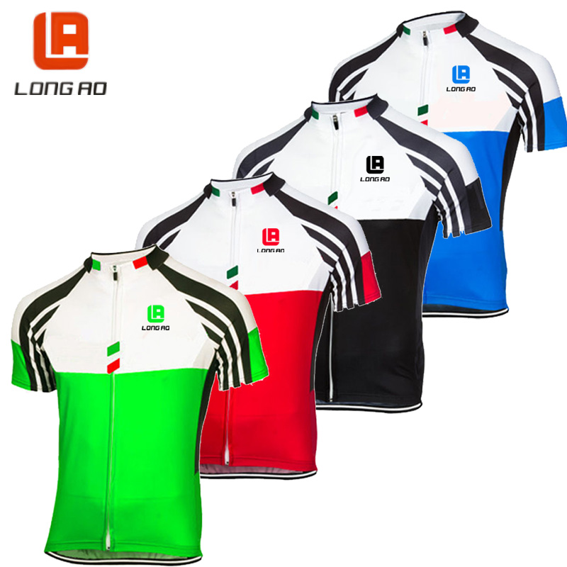 longao 2017 high quality Summer Short Sleeve Cycling Jerseys Italy 4 color Bike Sports Clothing Bicycle