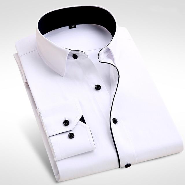 2017 Новый Мужской Рубашки Мужские Рубашки мужской Моды Случайные Длинные Рукава Бизнес Формальные Рубашки camisa социальной masculina