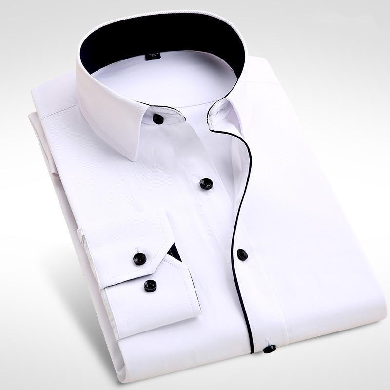 2c3b83e86a447 2017 Brand New Men Shirt Male Dress Shirts Men s Fashion Casual Long Sleeve  Business Formal Shirt camisa social masculina