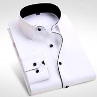 2017 di Marca Nuovi Uomini Camicia Maschile Camice di Vestito degli uomini Moda Casual Manica Lunga Business Formale Camicia camisa masculina sociale