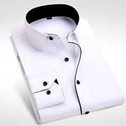 Brand New Men Shirt Male Dress Shirts Mens Fashion Casual Long Sleeve Business Formal Shirt camisa social masculina Clothing