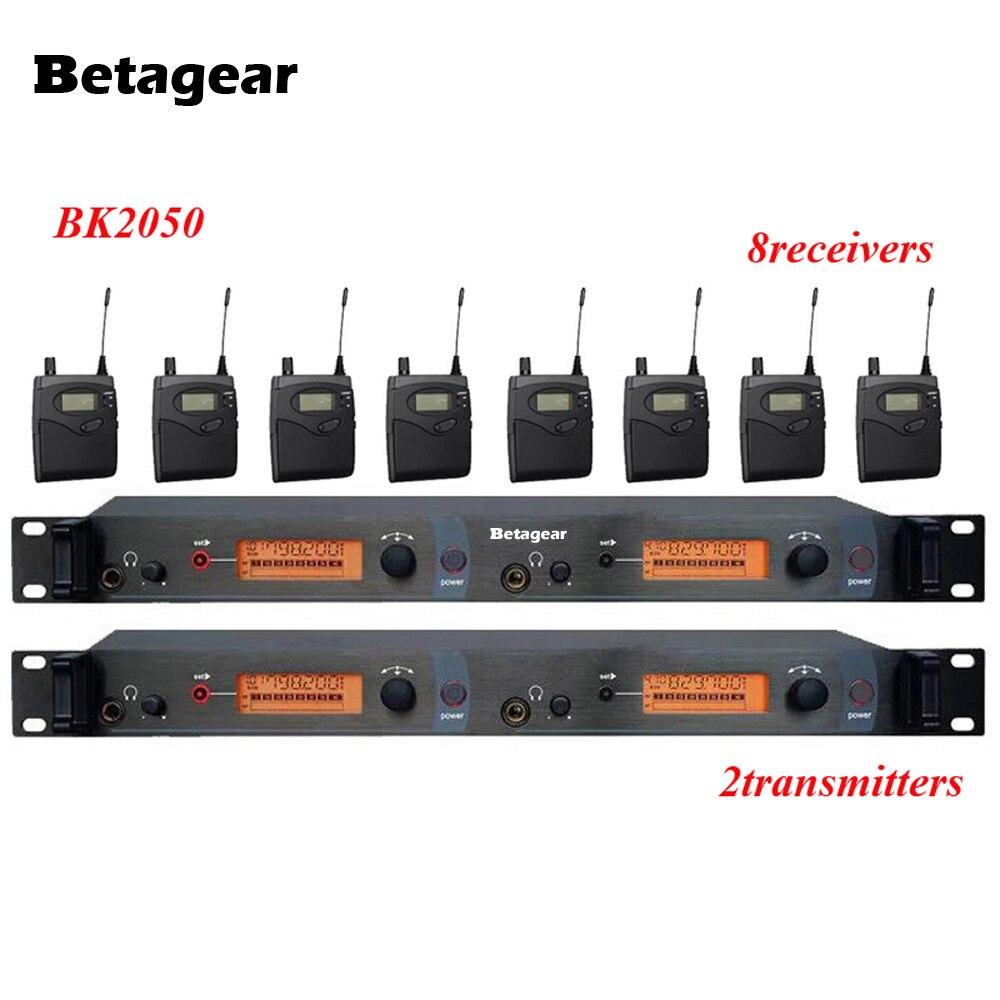 Betagear 8 ricevitori 2 trasmettitore SR2050 IEM Wireless Monitor di Sistema UHF sistema In-Ear Wireless monitor da palco in earBetagear 8 ricevitori 2 trasmettitore SR2050 IEM Wireless Monitor di Sistema UHF sistema In-Ear Wireless monitor da palco in ear