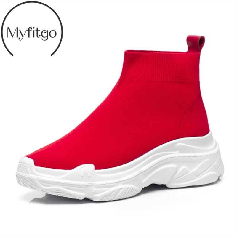 Myfitgo 플랫폼 양말 운동화 여성 니트 신발 여성 러닝 스포츠 통기성 신발 여성 운동화 봄 여성 신발 신규-에서여성 경량 신발부터 신발 의  그룹 1