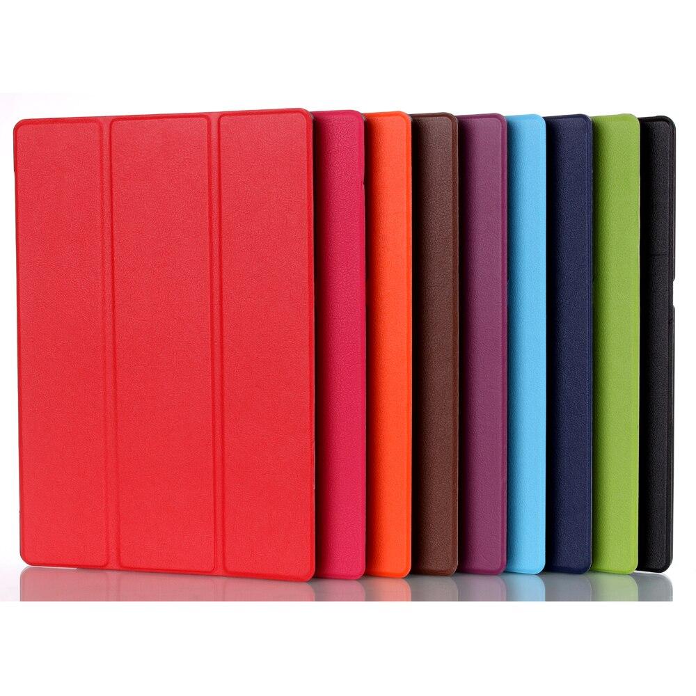 Para Lenovo Tab 2 A10 70F Tampa Da Caixa de Couro Para Tab2 A10-70 70 A10-70F A10-70L Tablet 10.1 ''Protetor de Tela + caneta